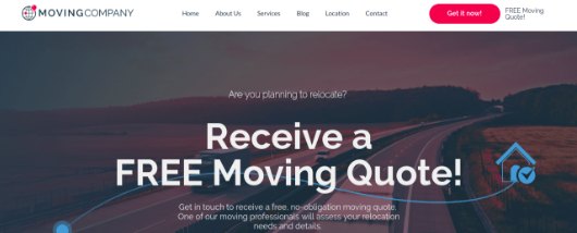 Moving business template